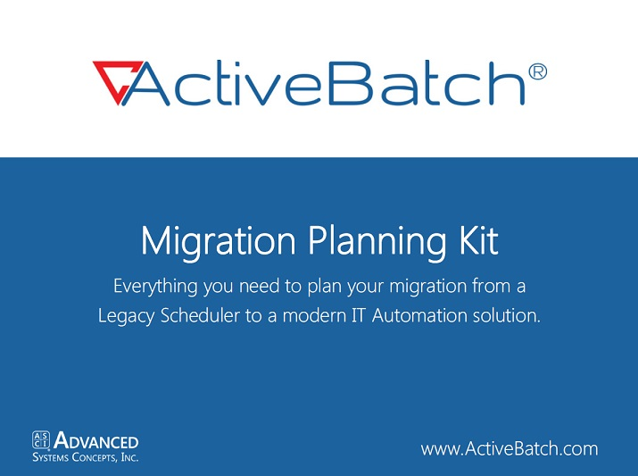 Job Scheduler Migration Planning