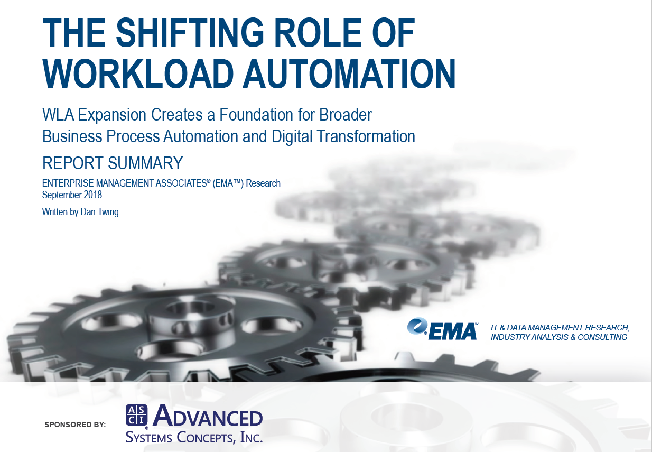 Workload Automation Shifting Roles EMA