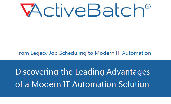 Legacy job scheduling to Modern IT Automation