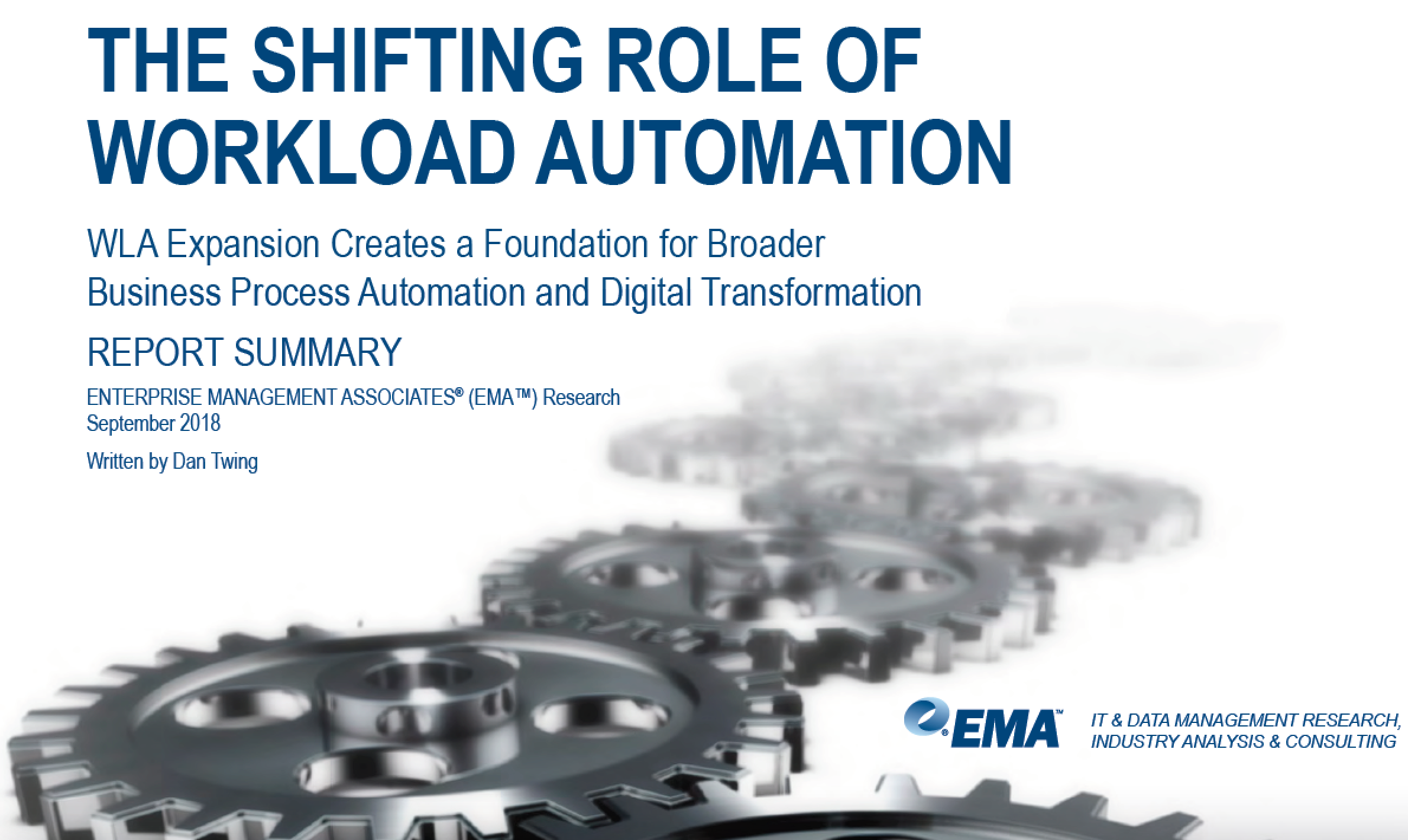 Workload Automation Shifting Role